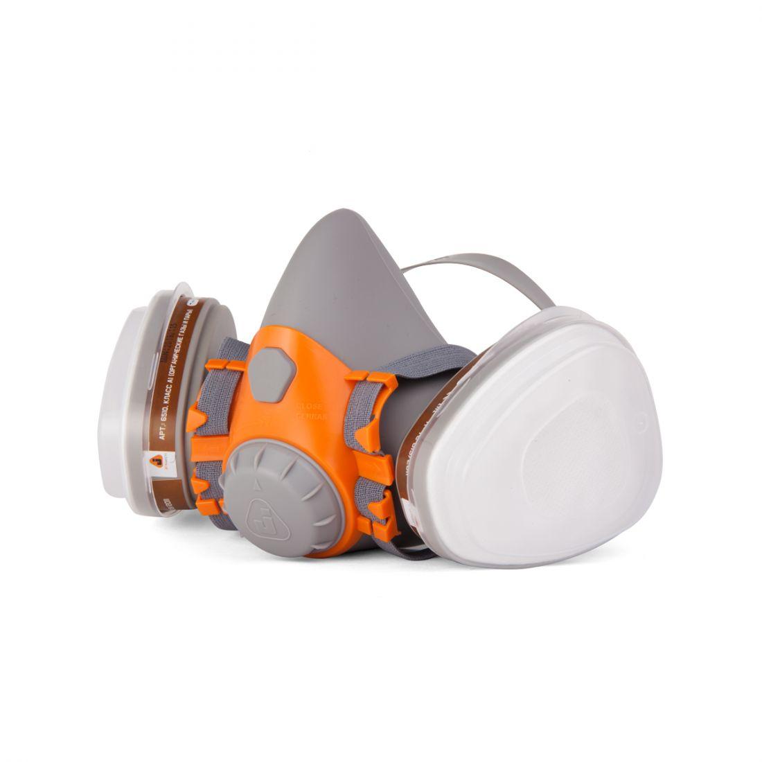 Jeta Полумаска фильтрующая из силикона с байонетным креплением фильтров для защиты от пыли, аэрозолей, газов