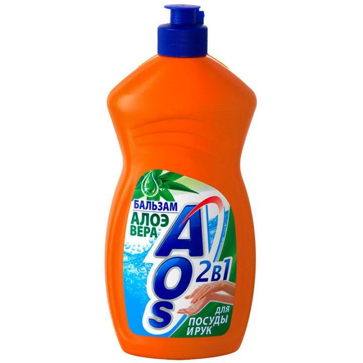 Ср-во д/посуды АOS 450мл Ромашка и Витамин Е фн