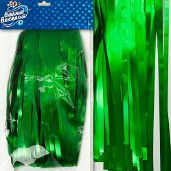 Занавес Дождик, Зелёный, матовый, 100*200 см