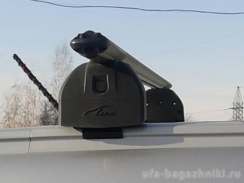 Багажник на крышу Lada XRay Cross, Lux, аэродинамические дуги (53 мм) на интегрированные рейлинги