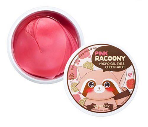 Secret Key Гидрогелевые патчи для глаз и щек Pink Racoony Hydro-Gel Eye & Cheek Patch