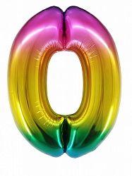 "Цифра ""0"" радуга 86см"