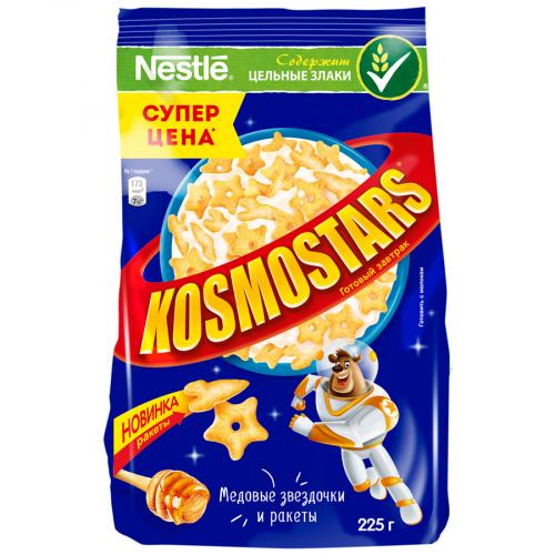 Завтрак Космостарс медовые звездочки 225г (пакет) Нестле