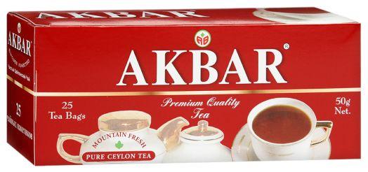 Чай Акбар Черный байховый (мелкий лист) с/я 25пак*2г