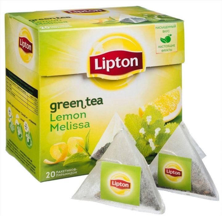 Чай Липтон зеленый Лимон-Мелисса (пирамидки) 20пак.*1,6г