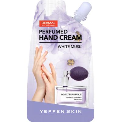 Dermal Yeppen Skin Perfumed Handcream White Musk Парфюмированный глубокоувлажняющий крем для рук с экстрактом календулы и ароматом белого мускуса 20 гр