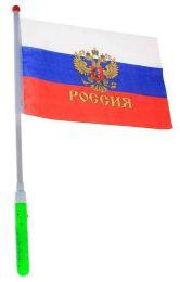 Флаг России на светящейся палочке