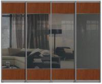 Четырехдверные двери купе - ЛДСП+Зеркало+ЛДСП