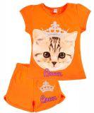 Летний комплект для девочки 4-8 лет BONITO kids оранжевый