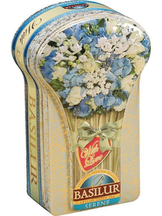 Чай Базилур Цветочная коллекция Нежный ж/б 100г
