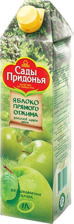 Сок Сады Придонья 1л Прямой отжим Яблоко