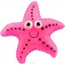 Виниловая игрушка-пищалка для собак Морская Звезда, 12 см, Цвет: Розовый