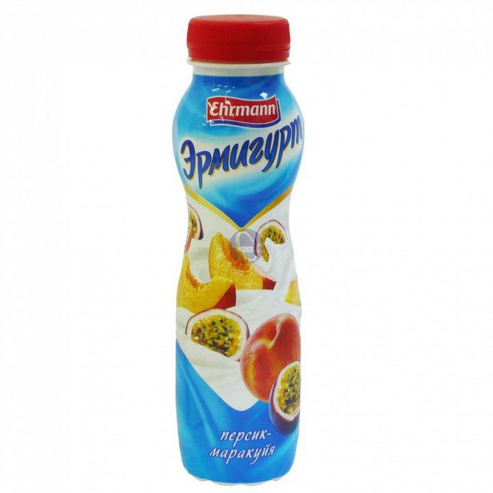 Напиток йогуртный Эрмигурт 1.2% питьевой  персик/маракуйя 290гр. Эрманн