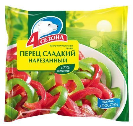 Перец сладкий нарезанный 400г 4 Сезона