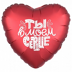 Шар (18''/46 см) Сердце, Ты в моем сердце