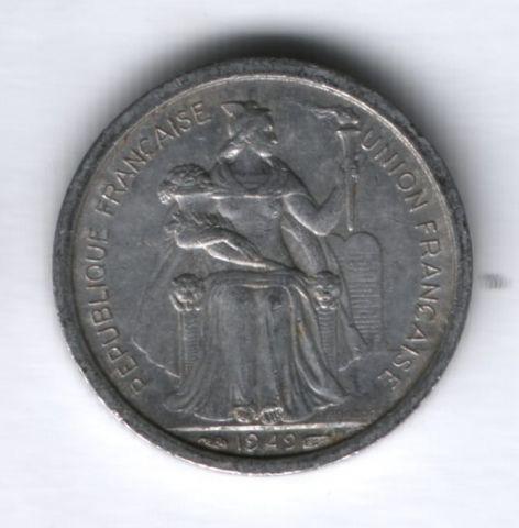 1 франк 1949 года Новая Каледония