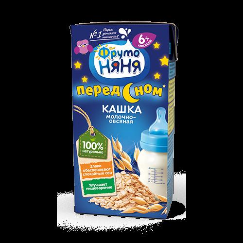 Каша Фрутоняня жидкая молочная овсяная 200мл. Россия