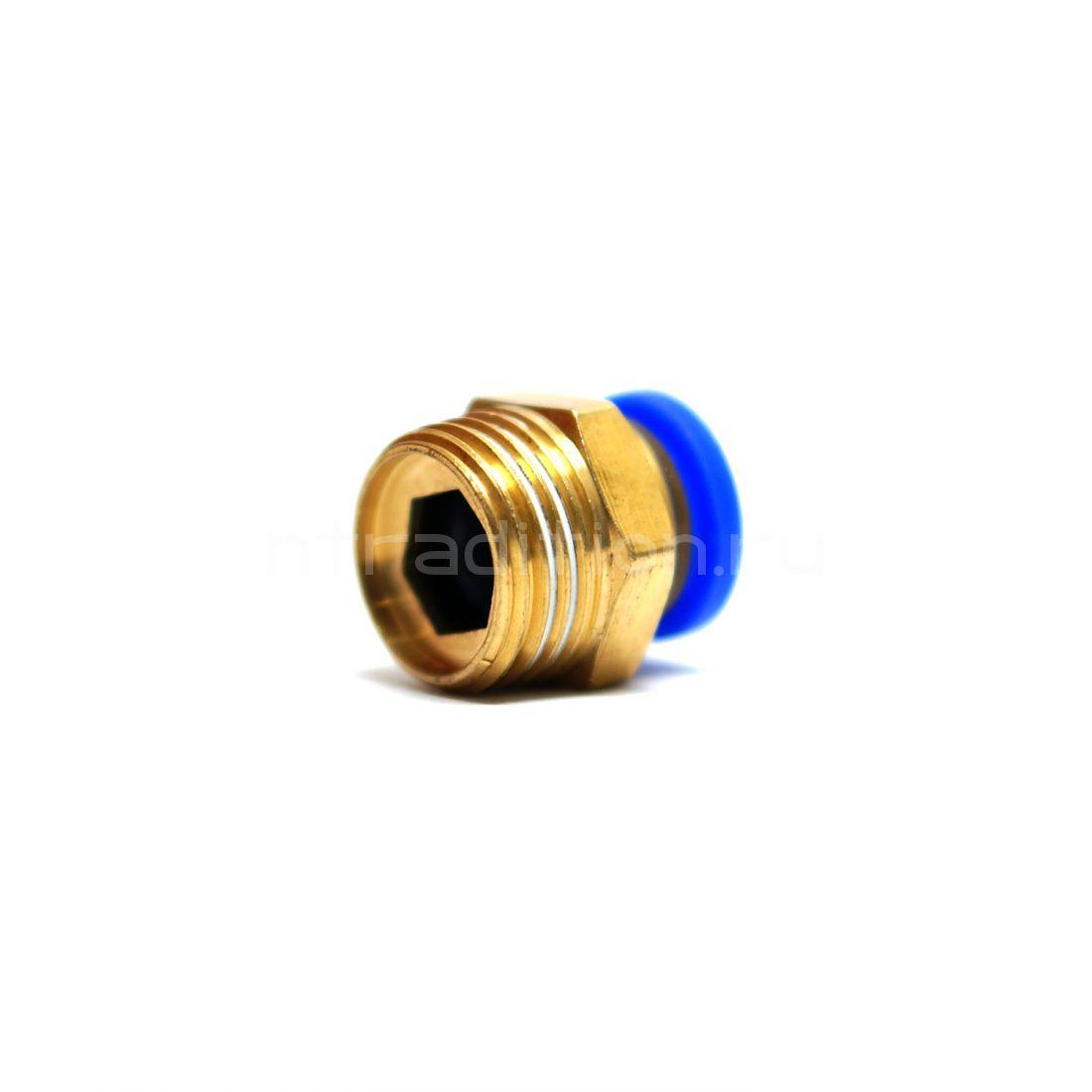 Штуцер-быстросъем 1/2 на 10 мм наружняя резьба
