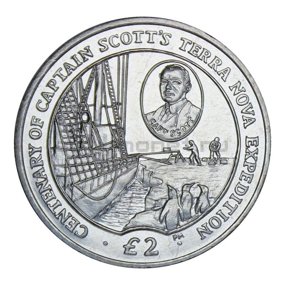 2 фунта 2012 Британская антарктическая территория 100 лет экспедиции Терра Нова