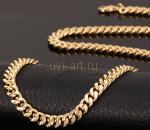 Позолоченная цепочка или браслет с имитацией алмазной гравировки, 55 см (арт. 250171)