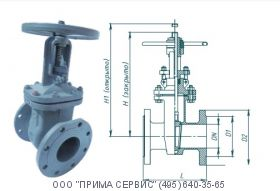 Задвижка 30с41нж (газ) Ду80 Ру16