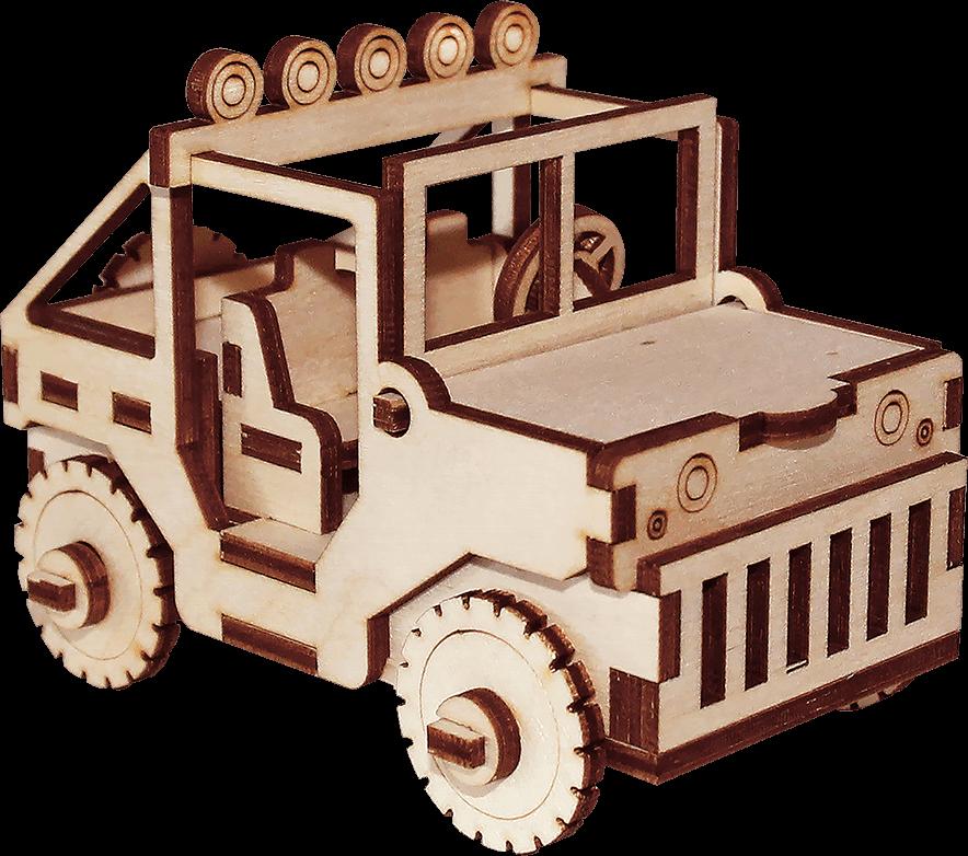 Деревянный конструктор машина «Сафари»