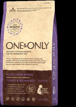 ONE & ONLY Индейка с бурым рисом для крупных собак