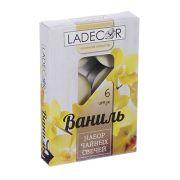 LA DECOR Набор свечей чайных 6шт, парафин, аромат ваниль, арт.30714