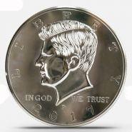 Гигантская монета Half Dollar  - Super Jumbo Half Dollar (25 см, Пластик)