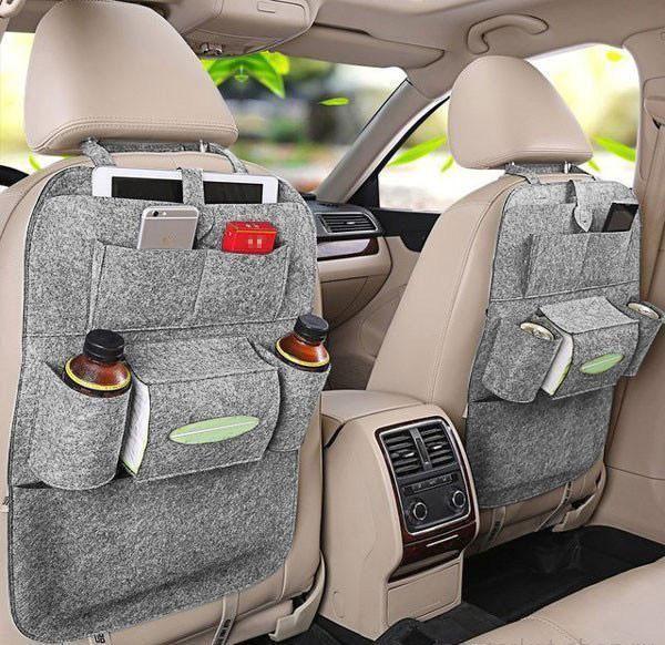 Органайзер для спинки сиденья авто Vehicle mounted storage bag, Цвет Светло-Серый