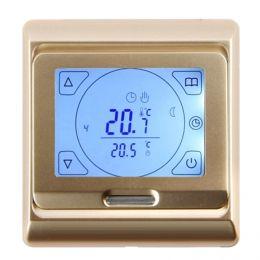 Электронный програмируемый терморегулятор с сенсорным дисплеем E 91,715 золотистый