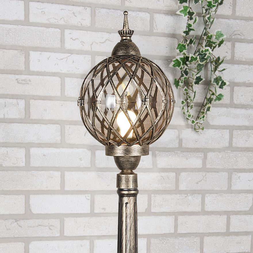 Уличный светильник на столбе Elektrostandard Sirius F черное золото
