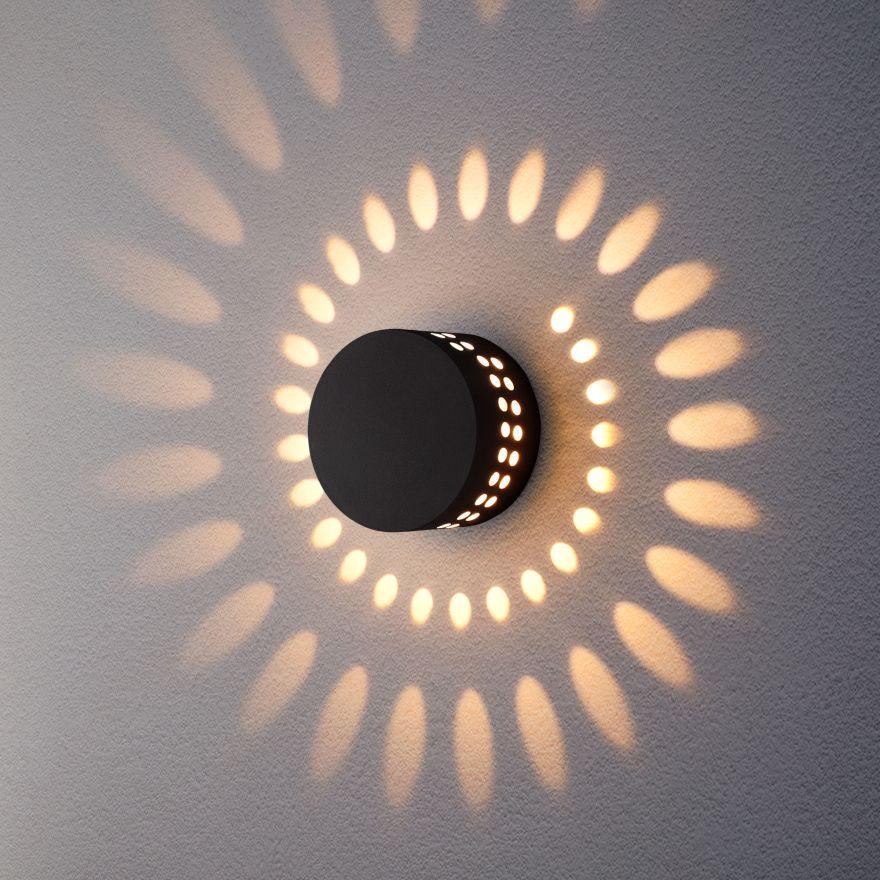 Уличный настенный светодиодный светильник Elektrostandard 1585 TECHNO LED ARKADA черный