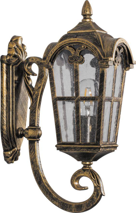 Светильник садово-парковый Feron PL102 четырехгранный на стену вверх