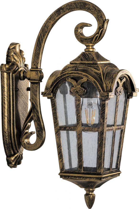 Светильник садово-парковый Feron PL103 четырехгранный на стену вниз