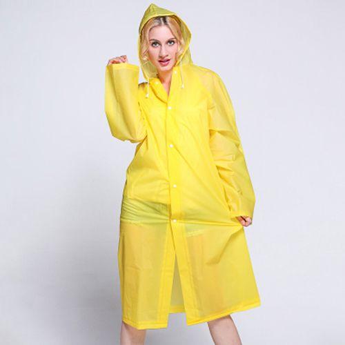 Виниловый плащ-дождевик для взрослых, жёлтый.