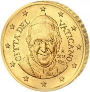 Ватикан 50 центов 2015 UNC