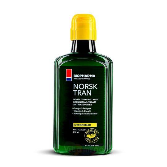 Norsk Tran Omega-3 Рыбий жир со вкусом лимона