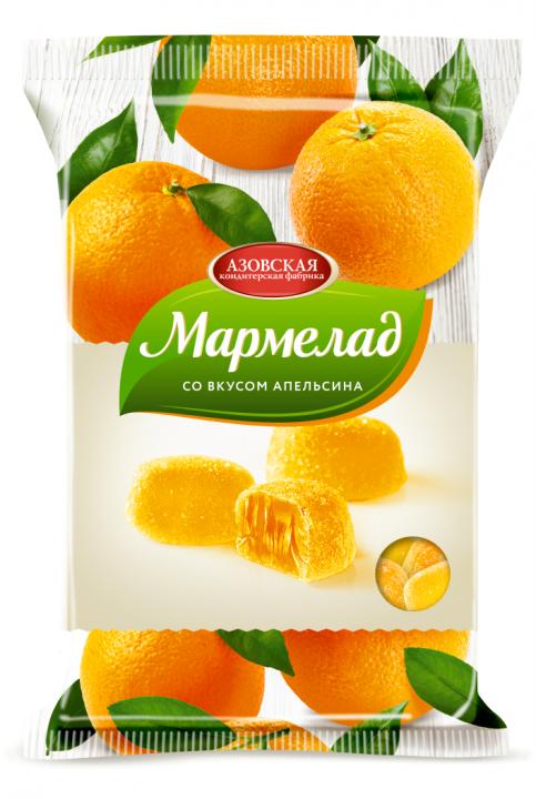 Мармелад желейный со вкусом Апельсина 300г Азов