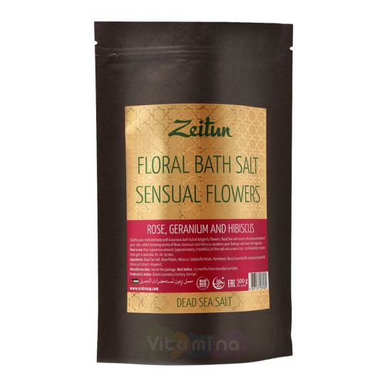"""Zeitun Соль для ванн """"Волнующие цветы"""""""