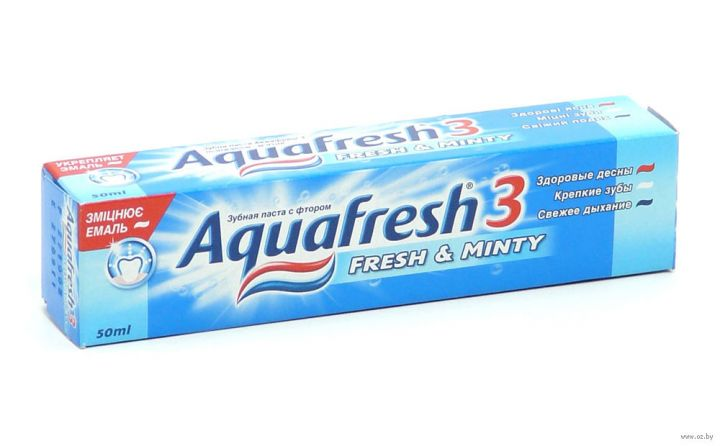 Зуб. паста Aquafresh-3 синяя 50г