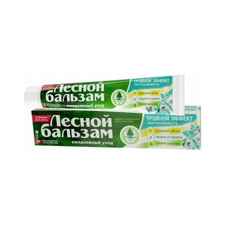 Зуб. паста Лесной Бальзам 150мл Тройной эффект/Мята-смородина
