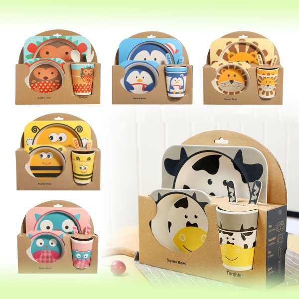 Детская посуда из бамбука Bamboo Ware Kids Set , 5 предметов