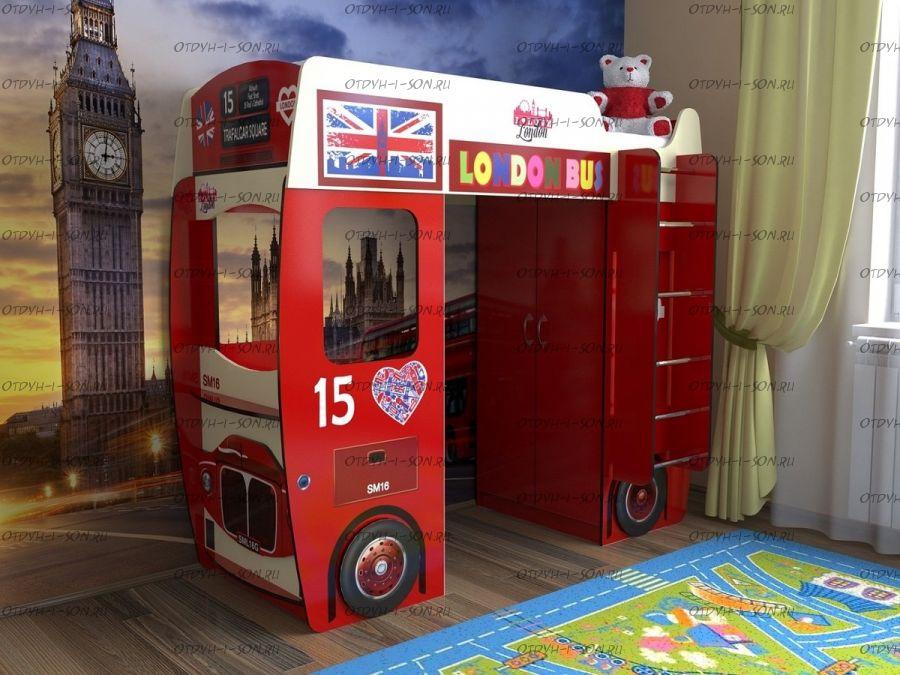 Кровать-чердак Автобус