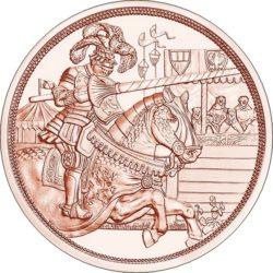 Благородство 10 евро Австрия 2019 Серия «С кольчугой и мечом» на заказ