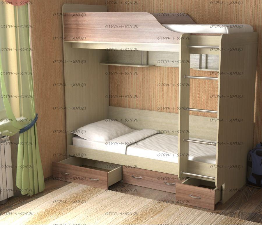 Кровать двухъярусная Дуэт-14