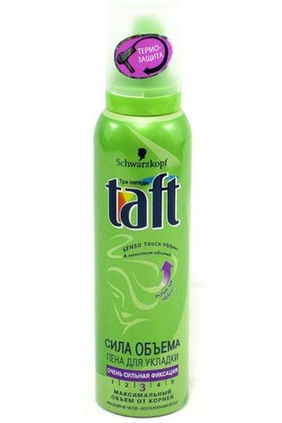 Пена д/волос Taft 150мл Объем очень сильной фиксации