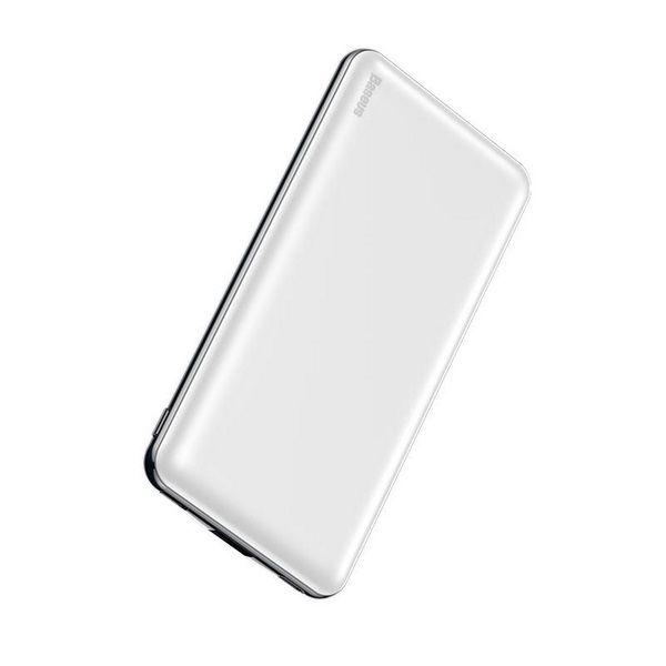 Внешний аккумулятор ультра тонкий Baseus Power Bank Simbo Smart 10000 mAh белый