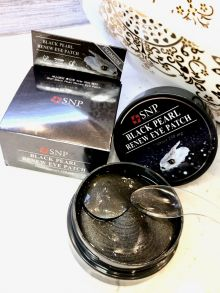 Патчи с чёрным жемчугом от тёмных кругов под глазами SNP Black Pearl Renew Eye Patch,60шт