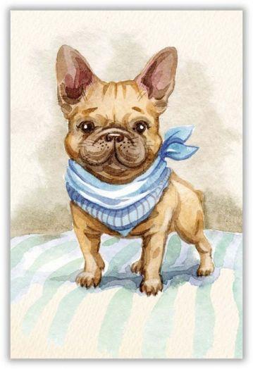 Модный голубой платок